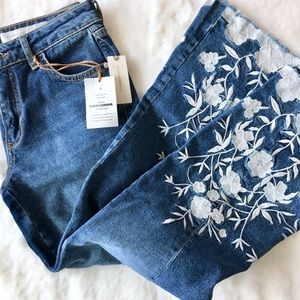 Pilcro Cropped Flare Jeans